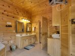 master bath on main level with jetted tub