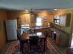 Kitchen/dining area seats 6