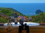 View from Haywain veranda and double bedroom