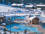Beautiful outdoor pools and hot tubs