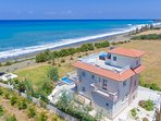 Beautiful Beachfront Villa with Private Pool, Terrace and Panoramic Sea Views
