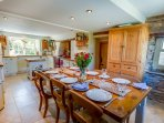 Farmhouse kitchen-diner at Barnfield Holiday Cottage, Bratton Fleming, North Devon