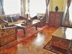 Tibetan antique sofa design.
