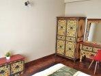 Tibetan lotus motifs in all the tibet furnitures.