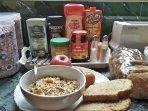 Light breakfast provided everyday. Muesli, cornflakes, seasonal fruit, eggs, coffee, tea, juice, etc