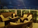 Sofa set at the balcony, perfect for relaxing in the evening.