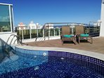 Rooftop Pool and sundeck area, perfect for relaxing in the summer.