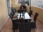 Barbecue and out side dinning area