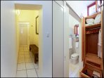 At the back there is a corridor to store luggage and dresser cabinet for your clothes.