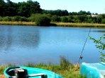 Lac du Roussinas. Promenades en barque.