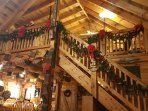 Big Rock Log Cabin Decorated For Christmas!