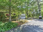 This property boasts just over 1 acre of land.