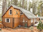 Have a memorable stay at this stylish 3-bed, 2-bath North Lake Tahoe log cabin!