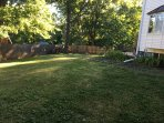 Wiffle ball anyone? Feel free to use the yard, your private patio, entrance and driveway.