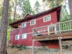 Enjoy the peace and quiet found at this 2-bedroom, 2-bathroom vacation rental cabin in Arnold, California for your next...