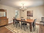 This dining table is perfect for formal meals.