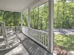 Sip your morning coffee on the charming front porch.