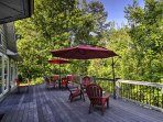 Look forward to cookouts on the spacious deck!
