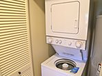 Washer and dryer in the condo.