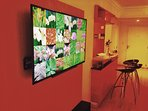 Big Sony Led TV w/ Apple TV . You log w/ your ID and enjoy your preferences.