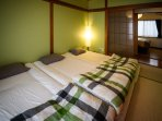 One Japanese style room was added so that guests can experience sleeping on futons.