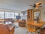 From a stone fireplace to a flat-screen cable TV, this spacious condo has all of the amenities you could want in a...
