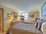 There are also 2 queen-sized beds and a flat-screen TV in the spacious second bedroom.