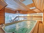 Take a dip in the hot tub to soothe your aching muscles.