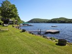 Situated on Lake Waramaug, this home offers access to a dock and boathouse!
