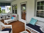 Feel the ocean breeze from the front or back porch.