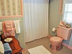 Three bathrooms provide private spaces to primp and rejuvenate.