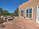 Enjoy sunny days or cool fall and winter evenings beneath the stars on the patio.