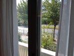 Window view of Vas. Konstantinou Avn.