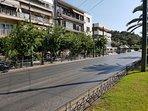 Vasileos (King) Konstantinou   Avenue. At the end of the buildings is the Panathenaic stadium
