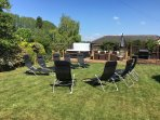 Large Secure  Garden with loungers