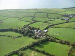 Aerial view of Cwm Connell