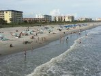 View of our beach on New Years Eve, seen from Cocoa Beach Pier