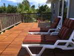 Sunrise Terrace, with views over pool & spa - perfect spot for star gazing & viewing rocket launches