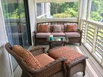 This great screened porch is the perfect retreat.