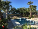 Your own tropical paradise, a private resort with heated pool, spa, palm trees and cool zone.