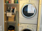 A washer and dryer is located in the condo.  Laundry supplies. Pool towels if you forgot yours.