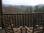 The view from the private cabin deck is private and breathtaking