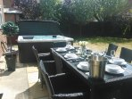 outdoor dining for 8