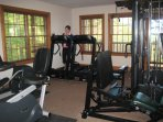The Preserve Resort workout room is well-equipped and includes a wet/dry sauna