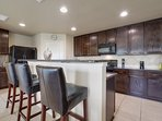 Save lots of money by making your own meals utilizing our fully-stocked kitchen.