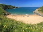 Mwnt Beach. Fab spot for dolphin spotting. 20 min drive from the cottages