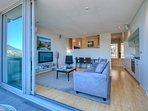 Pounamu 1-Bedroom Apartment Living area