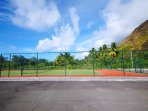 The tennis court of the residency .