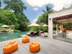 The Arsana Estate - Bean bags by the pool