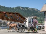 """Year round horse drawn carriage through the Village are a popular tourist """"must do."""""""